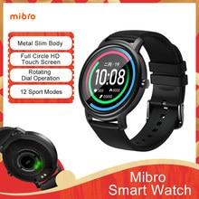 Relógio inteligente mibro ar esporte bluetooth 5.0 ip68 à prova dip68 água monitor de sono fitness rastreador smartwatch para mulher 2020