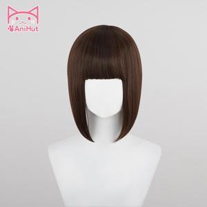 Image 3 - 【Anihut】chocola nekoparaコスプレウィッグチョコレート耐熱人工毛チョコラコスプレ毛