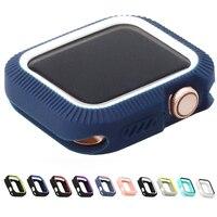 Funda de TPU para apple watch series 5 y 4, protector de cubierta colorida para iWatch 40 y 44mm, ajuste de Marco ultrafino, carcasa de banda de 40mm y 44mm