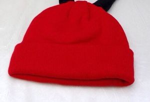 1 Children's hat 2019 autumn and winter new solid color knit hat creative cute wool cap(China)