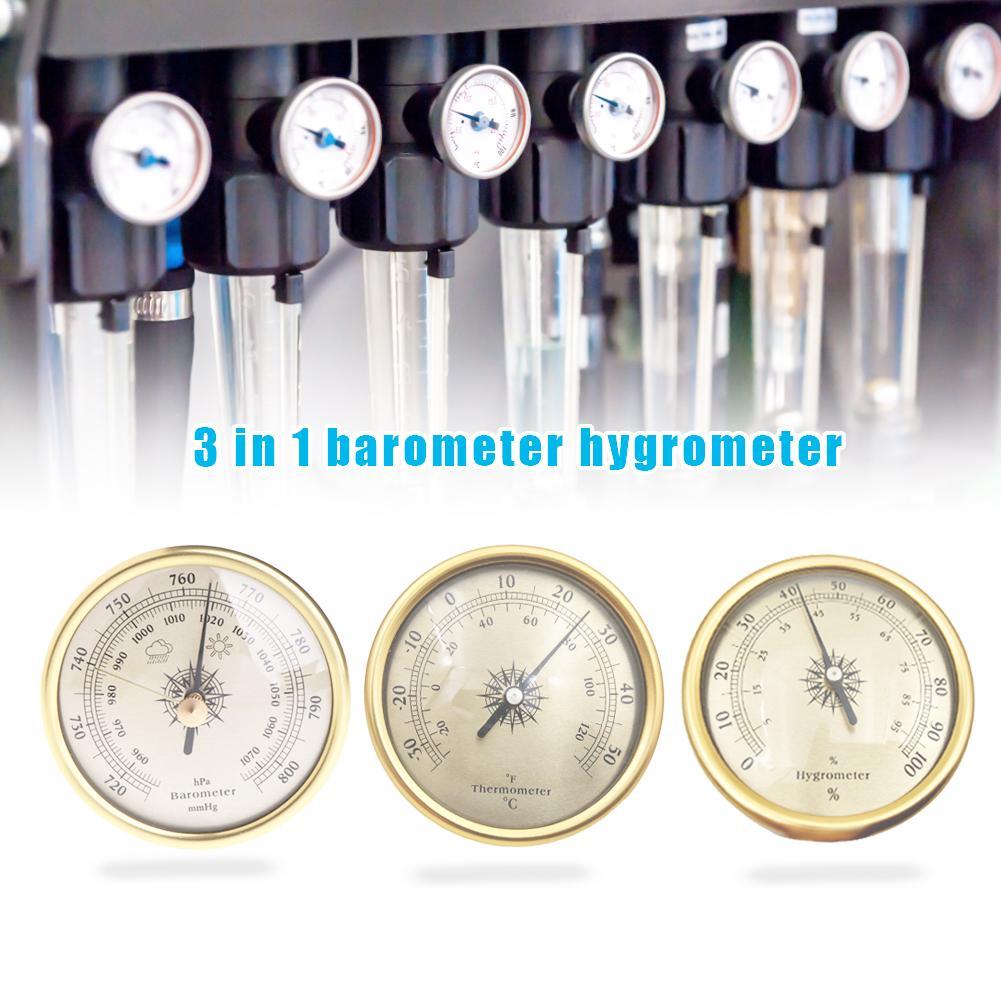 3 шт. аналоговый барометр термометр гидрометр настенный контроль температуры и влажности атмосферный измеритель давления для домашнего ис...