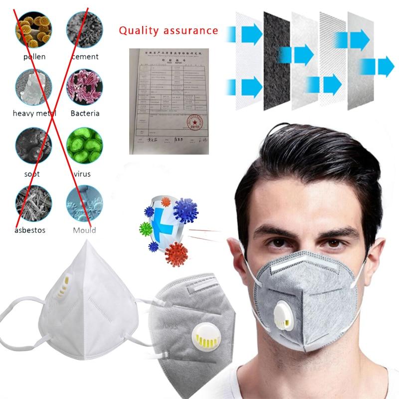 KF95 Mask Respirator Face Mask Anti Dust N95 Mask Activated Carbon Filter Mascarillas De Proteccion Respirator PK Ffp3 RS2 Mask