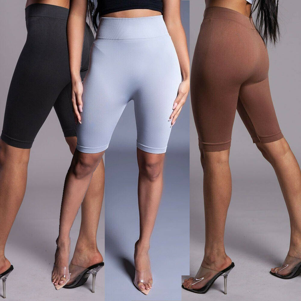 2019 New Sexy Women's Cotton Fitness Safety Short Pants Trousers Tight Sheer Skinny Stretch Short Pants