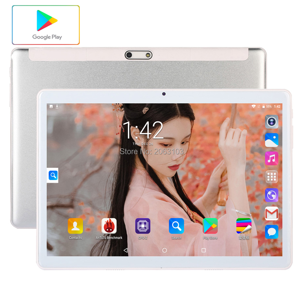 2020 Google Android 10 Inch Tablet 96GB ROM 3G Phone Call Dual SIM Cards 1280*800 IPS WIFI Tablets 10 10.1 Youtube GPS Pad