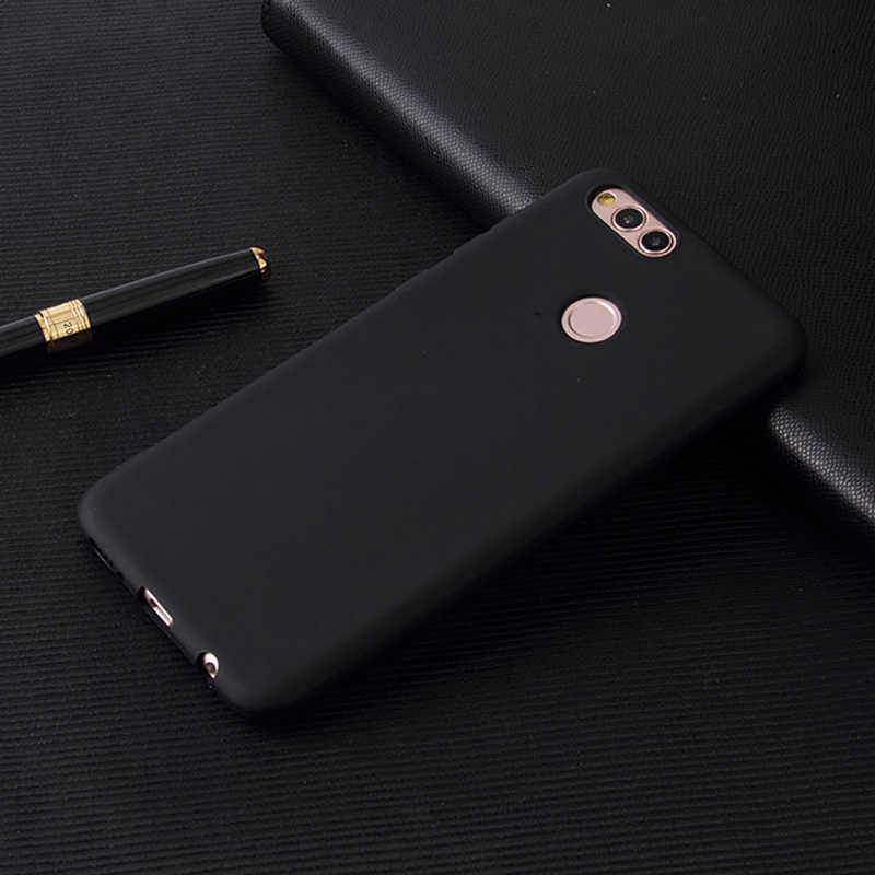 Einfarbig Telefon Fall Für Huawei Ehre 10 9 8 Lite 6C Pro Spielen 6A P smart Abdeckung für Huawei y5 Y7 Y9 Y6 Pirme 2018 Y3 Y5 2017