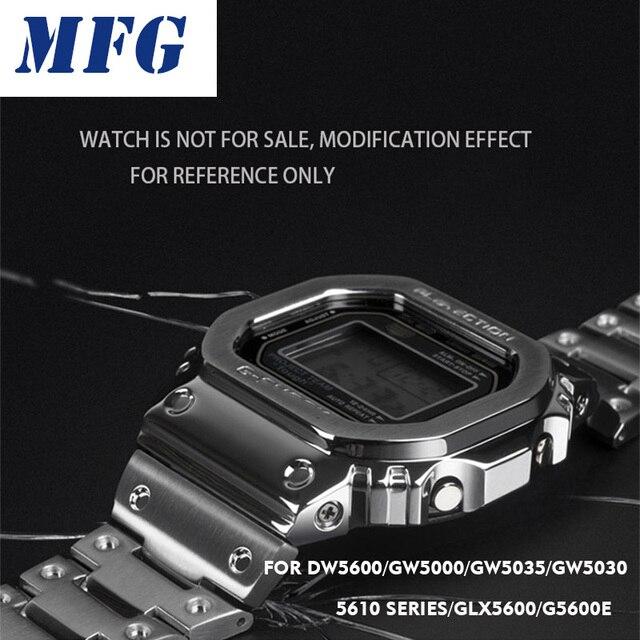 時計バンドベゼルストラップDW5600 GWM5610 金属ステンレススチール時計バンドケースフレームブレスレットアクセサリー修復ツール