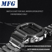 Pasek zegarka pasek Bezel DW5600 GWM5610 metalowa bransoleta ze stali nierdzewnej Watchband Case rama bransoletka akcesoria Repair Tool
