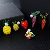 Rinhoo Enamel Strawberry Brooches Accessories Hat Bag Jewelry Wedding Pins Good Jewelry Gift for Women