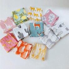 Детское одеяло из органического хлопка; мягкое детское одеяло для новорожденных; муслиновое Пеленальное Одеяло для кормления; тканевое полотенце; шарф; детские вещи; 60*60 см