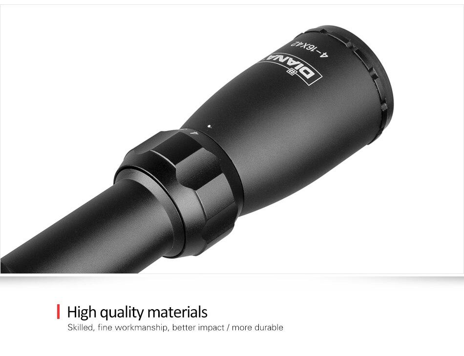 Mira tática 4-16x42 ao riflescope, ponto mil,