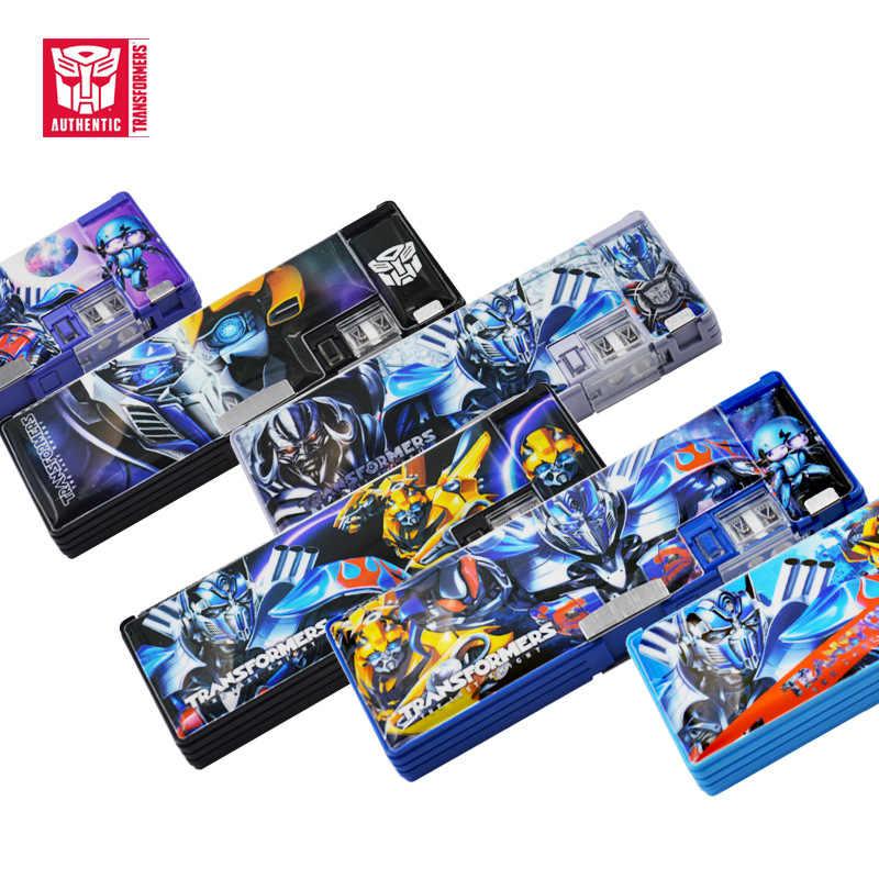 Yeni stil öğrenciler kırtasiye kutusu Transformers çocuk kırtasiye kutusu çok fonksiyonlu plastik kalem kutusu