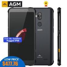 AGM X3 MIL-STD-810G sağlam su geçirmez Smartphone 8GB 128GB Android 8.1 Octa 5.99 ''24MP kamera çift hoparlör QC3.0 NFC