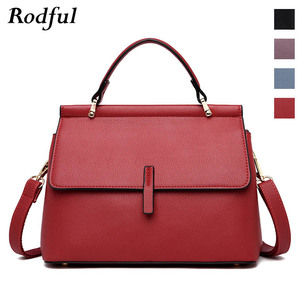Image 1 - Brand new fashion messenger bag womens leather handbags female shoulder crossbody bags for women purple light blue red black
