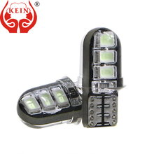 цена на KEIN 10PCS Silicone W5W 194 168 Led Lamp T10 Led Light For Car Side Wedge Read License Plate Pathway Light Bulb Car Accessories