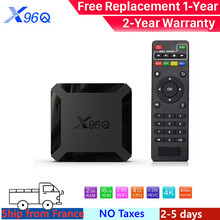 X96Q Tivi Box Android 10 Smart TV Box IPTVBox Allwinner H313 Quad Core 4K 60fps 2.4G Wifi Hỗ Trợ google Cầu Thủ Youtube Netflix(China)