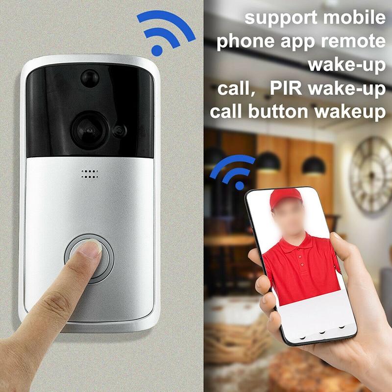 Wireless Smart Video Doorbell Ring Intercom Home Alarm WiFi Phone Remote  WIFI Doorbell Camera For Apartments