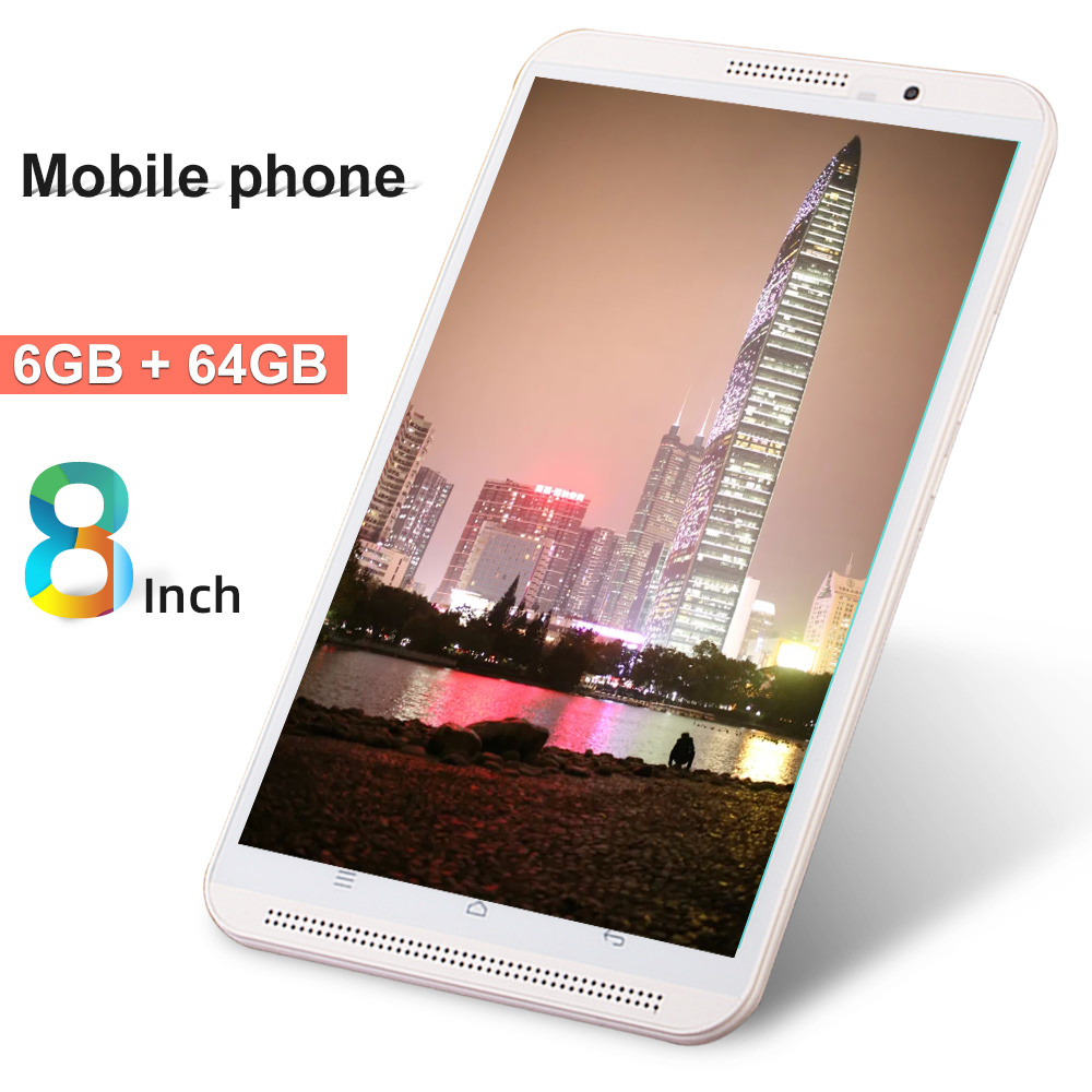 8 Inch Tablet Pc Original 4G Phone Call 6G+64G Android 9.0 Octa Core 3G 4G LTE Mobile Tablets Dual SIM WiFi Bluetooth GPS