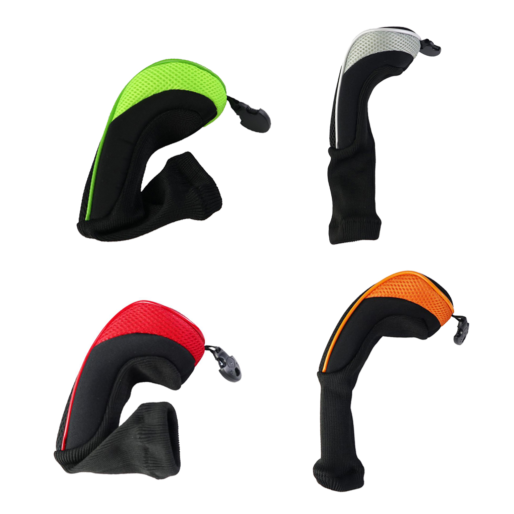 4x Golf Rescue Headcover Woods Hybrids Long Neck Club Cover 460cc Fairway Guard