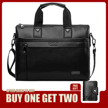 VICUNA POLO Casual Business Man Bag Simple Design Solid Leather Briefcase