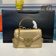 Bolso de mano de cuero con letras decorativas para Mujer, pequeño bolso cruzado dorado, Bolsos de hombro para Mujer, Bolsos de mano, bandolera
