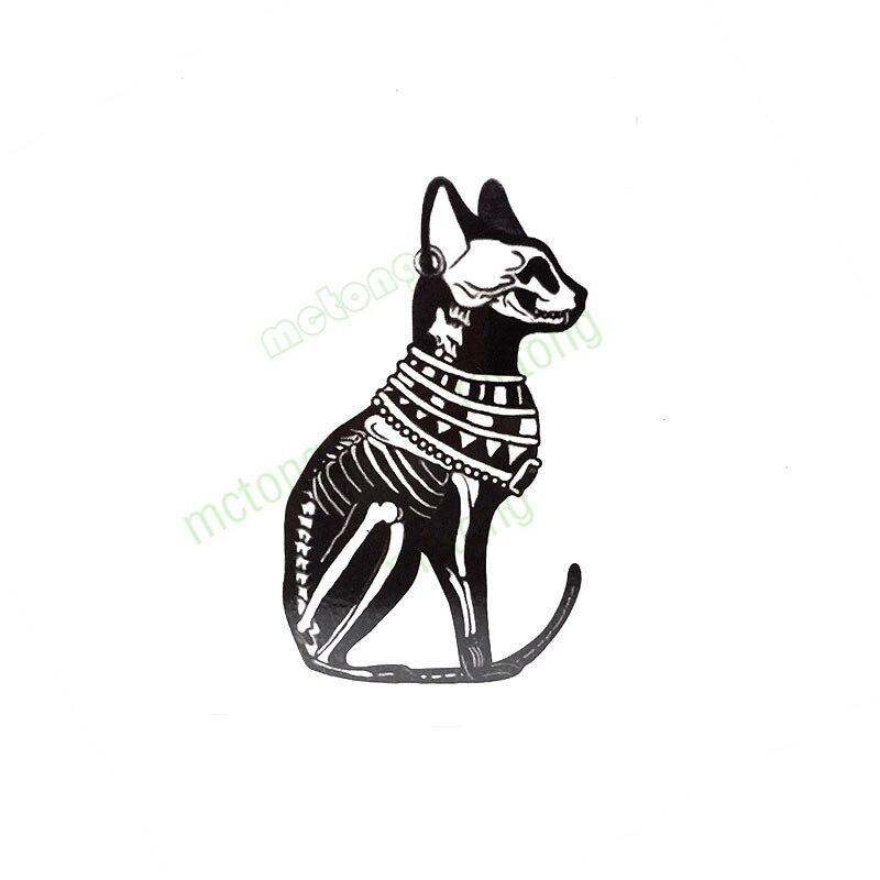 Classic Ancient Egypt Bast Bastet Cat Tattoo Tatuajes Hand Tatouage Body Waterproof Temporary FlashfakeTattoo Sticker Small Taty