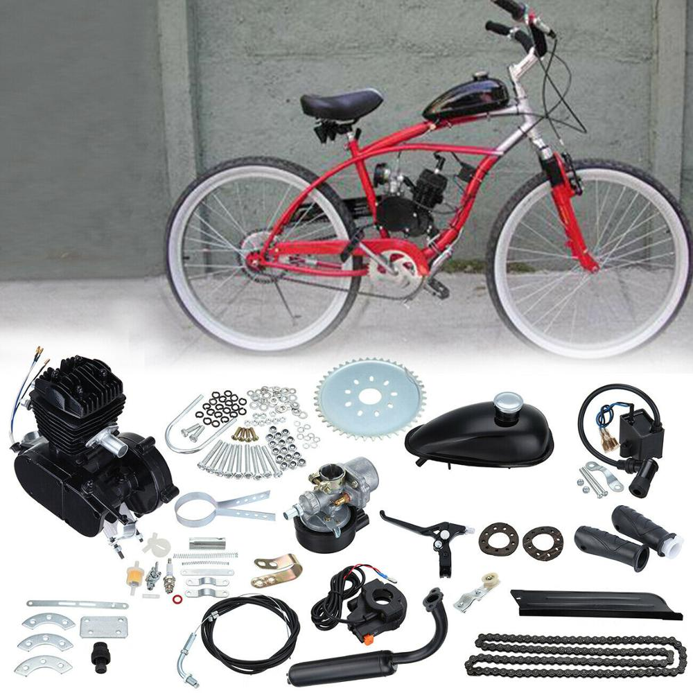 Bike DIY 50cc//80cc Engine Motor Full Set 2 Stroke Petrol Gas Motorized Engine