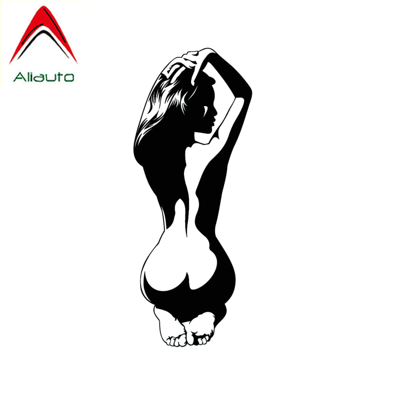 Aliauto Cool <font><b>Car</b></font> <font><b>Sticker</b></font> <font><b>Sexy</b></font> Naked Woman Auto Decor Waterproof Vinyl Decal for Motorcycle Smart Hyundai Toyota Hilux,15cm*6cm image