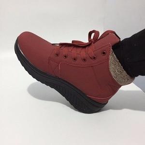 Image 4 - New Listinghigh Quality Fashion Warm Snow Boots 2018 Heels Winter Women Platform