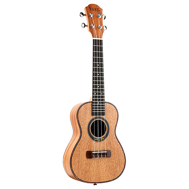 Yael Concert Ukulele 4 Strings Mahogany Guitar 23 Inch Soprano Ukulele Beginner Rosewood Fretboard Bridge For Musical Stringed