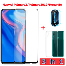 3-in-1 Tempered Glass for Huawei P Smart Z/2019 Camera Glass Honor 8A Screen Pro