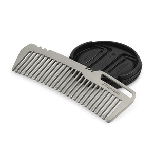 Image 3 - Mini Portable Titanium Alloy Comb EDC Super Light Titanium Comb  EDC Outdoor Small Accessories