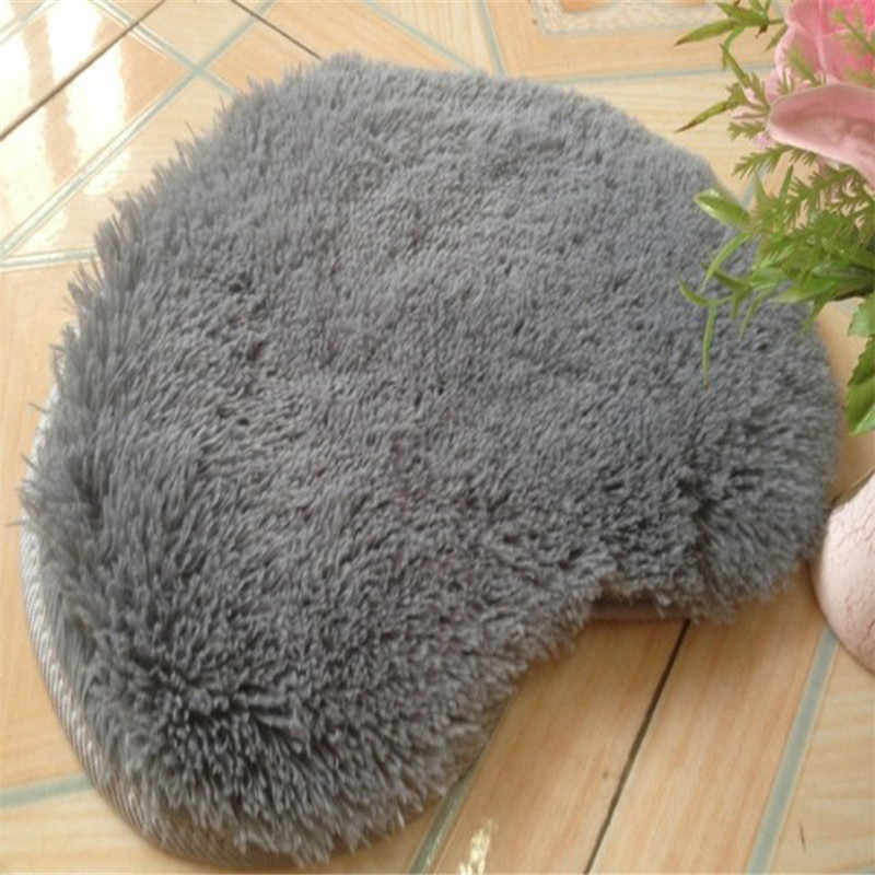 Wool Sheepskin Baby Room Bedroom Soft Area Mat Long Hairy Carpet Blue White Pink Shaggy Carpet Love Heart Shape Fur Rug
