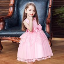 NEW baby girl summer clothes new kids dress princess Bow Sleeveless Birthday party Wedding presiding tutu