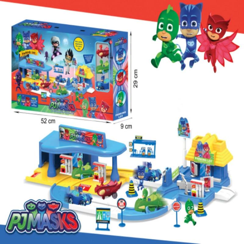 Pj masque 1 Villa 3 voitures 1gas station 3 poupées modèle Catboy Owlette Gekko figure masques ensemble assembler jouet jeux pour enfants gift2B19 - 2