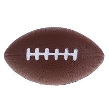 2 шт./упак. полиуретановая пена для детей младшего школьного возраста, молодежи Американский футбол аксессуары для игр на улице тренировочный мяч-коричневый