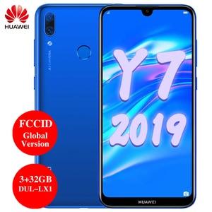 Image 1 - Huawei Y7 2019 Global Version smartphone 6.26 inch 3GB 32GB DUB LX1 Support FCCID Fingerprint ID Dual SIM AI camera