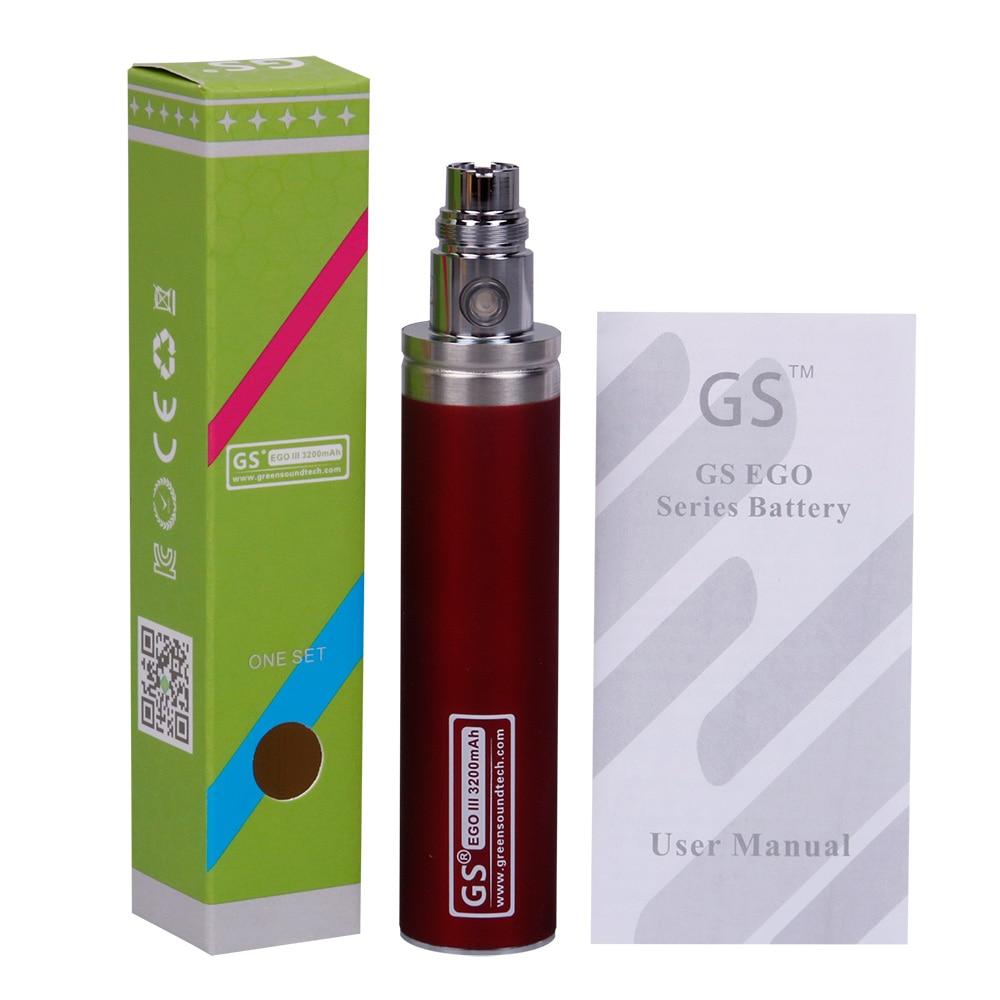 GreenSound GS EGO III 3200mah Battery Vape Pen For E Cigarettes Updated EGO Battery 510 CE4 MT3 Atomizer Ecig Battery Vape Mod