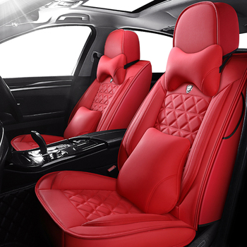 leather black red car seat cover For peugeot 301 307sw 508sw 308sw 308 508 206 4007 2008 5008 2010 3008 2012 107 206 accessories image