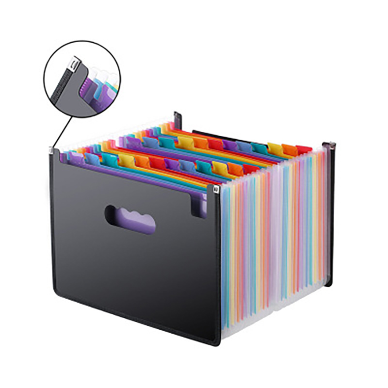 Multifunctional 12 Pockets Expanding File Folder A4 Expandable Portable Stand Plastic Business File Office Business Organize Box