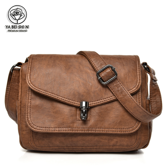 Женские кожаные сумки с двумя отделениями