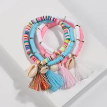 Artilady Friendship Bracelets Shell Charm Bracelet Tassel Boho Rope Women Jewelry Gift Drop Shipping(China)