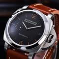 Parnis 42 мм 2530 автоматические механические часы для мужчин часы из нержавеющей стали серебро высокое качество календарь