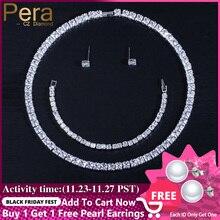 Pera wysoka jakość AAA + cyrkonia Mirco Pave pełna musujące duża kwadratowa kształt Choker naszyjnik kolczyki bransoletka dla kobiet J030