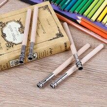 5 pçs lápis extensor ajustável alongador de madeira titular pintura desenho ferramenta