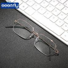 Seemfly pequeno quadro completo óculos de leitura mulheres tr90 anti azul luz bloqueando óculos lentes + 1.00 1.50 2.00 2.50 + 3.50