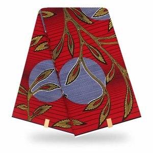 Image 2 - 100% قطن أنقرة أفريقيا طباعة النسيج الشمع الحقيقي Pagne Tissu مواد الخياطة للحفلات الحرفية فستان لتقوم بها بنفسك أنماط الأزهار