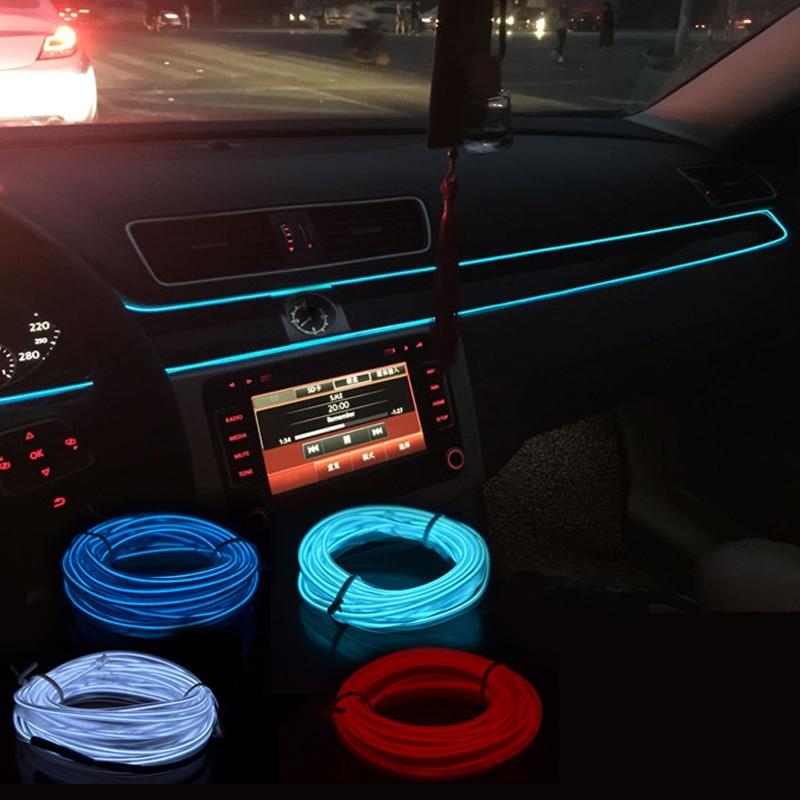 Автомобильный светодиодный светильник EL Wire, неоновый декоративный светильник для Mitsubishi Asx Lancer 10 Outlander Pajero Sport 9 Colt Galant Grandis