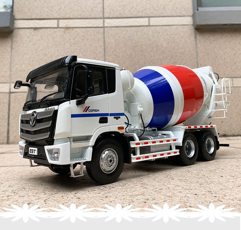 1:24 Diecast Model For Foton Daimler Auman EST L9 CEMEX LOXA Concrete Mixer Truck Alloy Toy Gifts ESTL9 Tractor Trailer EST