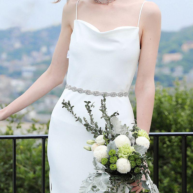 Women Bridal Twist Braided Rhinestone Applique Waist Belt Wedding Dress Sash Jewelry Bridesmaids Evening Gown Beaded Cummerbunds