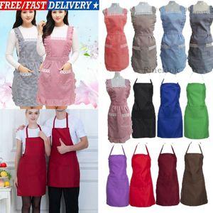 8 colores Unisex Color sólido delantal sencillo babero ajustable delantal vestido hombres mujeres cocina restaurante Chef clásico delantal de cocina caliente